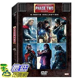 [COSCO代購] W124218 DVD - 漫威電影世界第二階段大合集 : 鋼鐵人 3 + 雷神索爾2 : 黑暗世界 + 美國隊長2