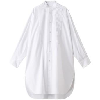 LOEFF ロエフ コットンピンタックブザムビッグシャツ ホワイト