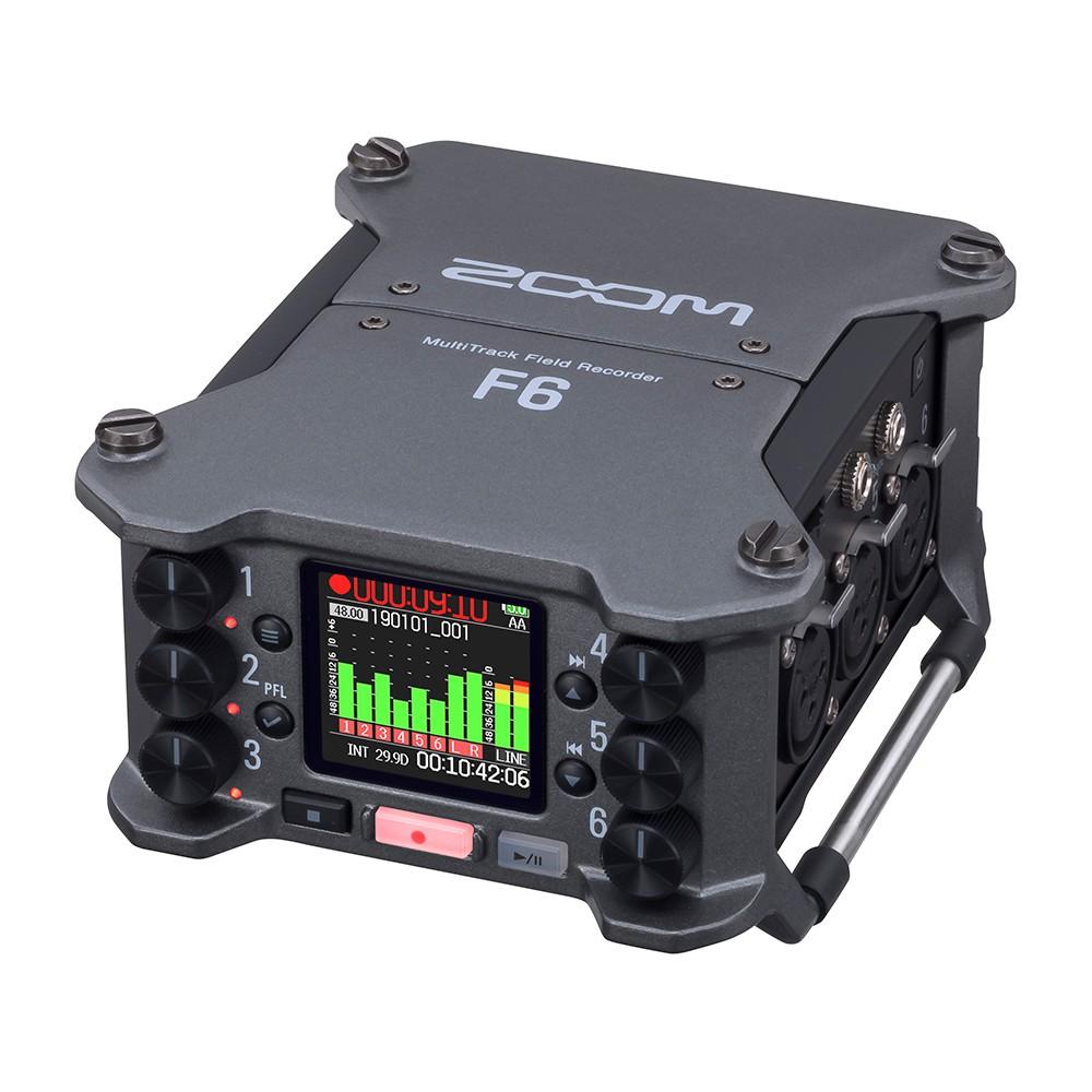 ZOOM F6 數位多軌錄音機 6軌 錄音器 混音器 便攜 收音 XLR TRS 記錄儀 [相機專家] [公司貨]