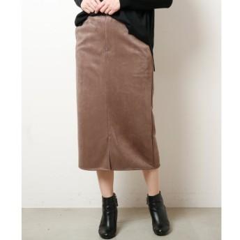 【ミューカ/MJUKA.】 ポンチスウェードナロースカート