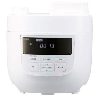 シロカ SP-4D151W [siroca 電気圧力鍋 (スロー調理機能付き) ホワイト]