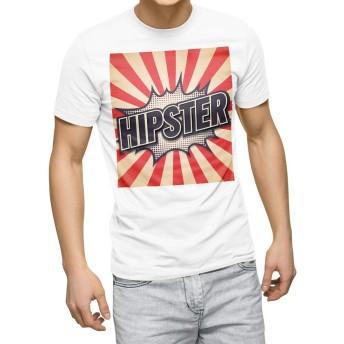 igsticker プリント Tシャツ メンズ 3XL XXXL サイズ size おしゃれ クルーネック 白 ホワイト t-shirt 011820 英語 ポップ 文字