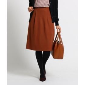 【Reflect:スカート】ミルドスムース無地Aラインスカート