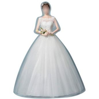 大きいサイズと薄い肩のカスタマイズのウェディングドレスと (Size : M)