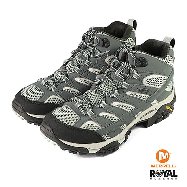 Merrell Laurel 灰綠色 皮質 黃金大底 健行運動鞋 女款 NO.J0282【新竹皇家 ML033270】