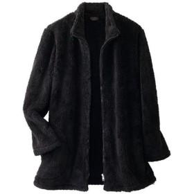 【レディース】 シープ調ボアジャケット - セシール ■カラー:ブラック ■サイズ:M