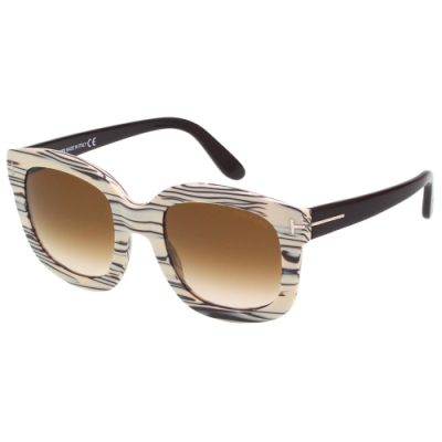 TOM FORD 方框太陽眼鏡(木紋色)TF279