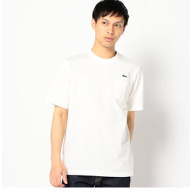 【SHIPS:トップス】LACOSTE: TH219E ヘビー カノコ ポケット Tシャツ