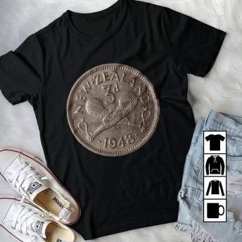 コインNEwzealendコインTシャツ半袖Tシャツティーズユース