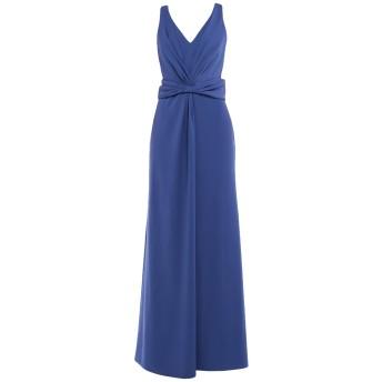 《セール開催中》ARMANI COLLEZIONI レディース ロングワンピース&ドレス ブルー 44 ポリエステル 100%