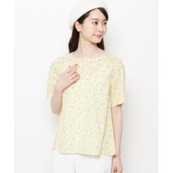 Airpapel/エアパペル 【洗える】リーフプリントシャツ イエロー(132) 11(L/ミセス)