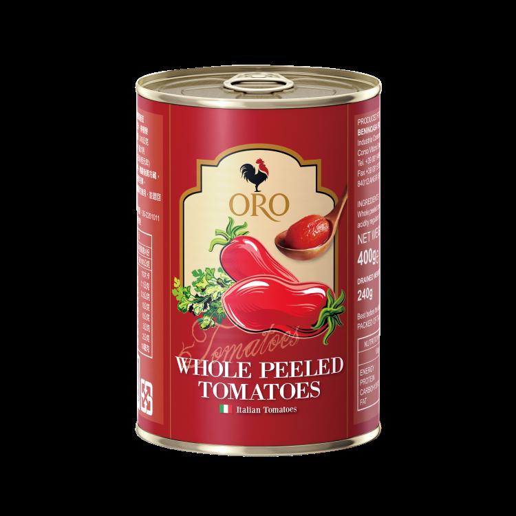 【拿坡里ORO番茄罐】去皮整粒400公克   1入(滿500元免運費)(限配送台灣本島地區)