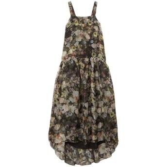 《セール開催中》ADAM LIPPES レディース ロングワンピース&ドレス ブラック 2 シルク 100%