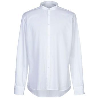 《セール開催中》CALLISTO CAMPORA メンズ シャツ ホワイト 38 コットン 100%