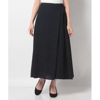 Petit Honfleur 【セットアップ対応商品】ドットプリントスカート(ネイビー)【返品不可商品】