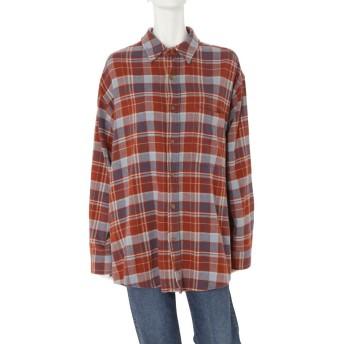 Ungrid チェックビッグシャツ(レッド)