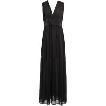 《セール開催中》NINEMINUTES レディース ロングワンピース&ドレス ブラック 40 ポリエステル 100%