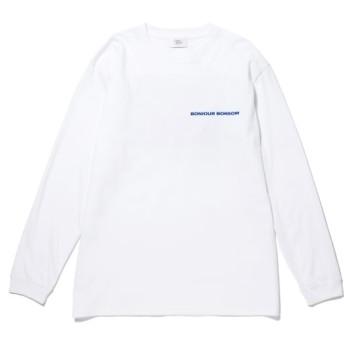 ボンジュールボンソワール/【bonjour bonsoir】BASIC L/S T-Shirt 20SS/ホワイト/XL