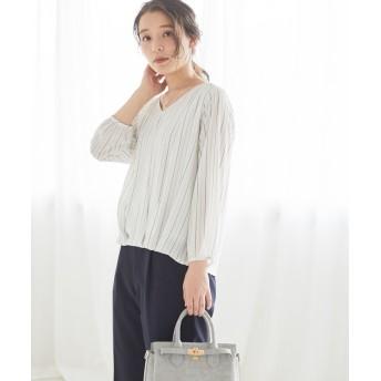 ハニーズ 裾タックプルオーバー レディース オフホワイト系1 M 【Honeys】