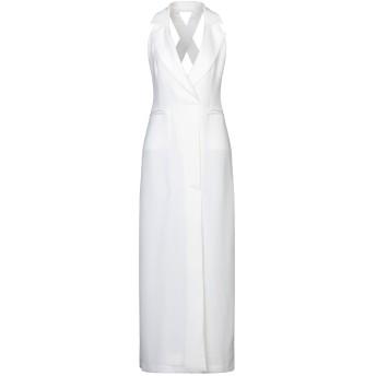 《セール開催中》(A.S.A.P.) レディース ロングワンピース&ドレス ホワイト 38 ポリエステル 100%