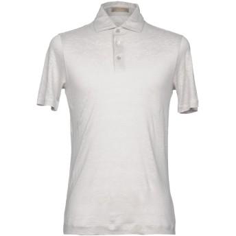 《セール開催中》CRUCIANI メンズ ポロシャツ ライトグレー 52 100% 麻