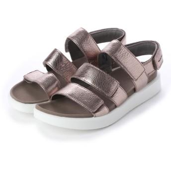 エコー ECCO FLOWT W Flat Sandal (WARM GREY METALLIC)