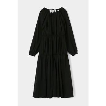 マウジー GATHER TIERED FLARE ドレス レディース BLK 2 【MOUSSY】