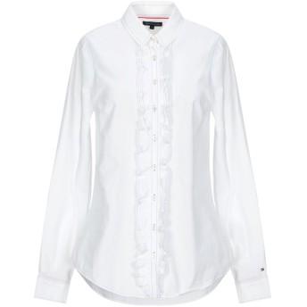 《セール開催中》TOMMY HILFIGER レディース シャツ ホワイト 6 コットン 100%