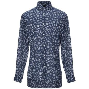 《セール開催中》BARBA Napoli メンズ シャツ ブルー 40 麻 100%