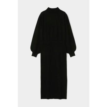 (moussy/マウジー)MIDDLE NECK BLOUSING ドレス/レディース BLK