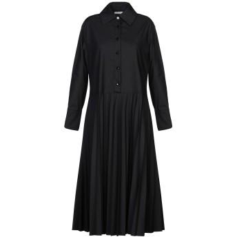 《セール開催中》MOTEL レディース 7分丈ワンピース・ドレス ブラック S ポリエステル 65% / コットン 35%