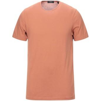 《セール開催中》THEORY メンズ T シャツ ブラウン S コットン 100%