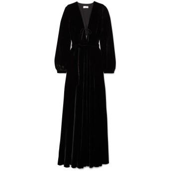 《セール開催中》RAQUEL DINIZ レディース ロングワンピース&ドレス ブラック 36 シルク 100%