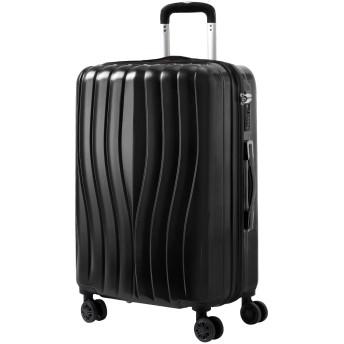 EOWO スーツケース キャーリーケース S,M,L 軽量 TSAロック付き 機内持ち込み ファスナー開閉タイプ ダイヤルロック バッグ かばん 旅行用品 ビジネス おしゃれ(S,ブラック)94BAA