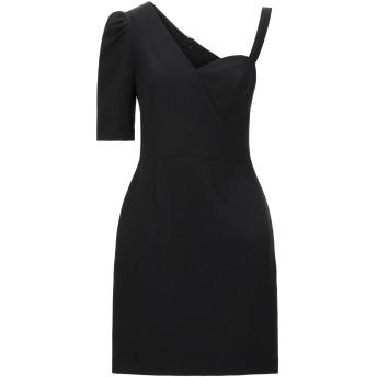 《セール開催中》HOPE COLLECTION レディース ミニワンピース&ドレス ブラック S ポリエステル 89% / ポリウレタン 11%