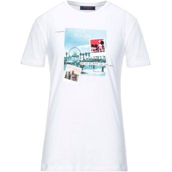 《セール開催中》TRUSSARDI JEANS メンズ T シャツ アイボリー XXL コットン 100%
