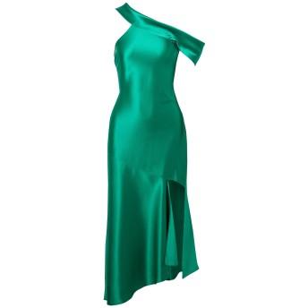 《セール開催中》CUSHNIE レディース ロングワンピース&ドレス グリーン 2 シルク 100%