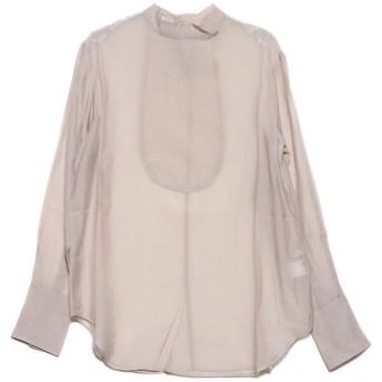スタイルブロック STYLEBLOCK シアーポプリンブザム切り替えシャツ (ライトグレー)