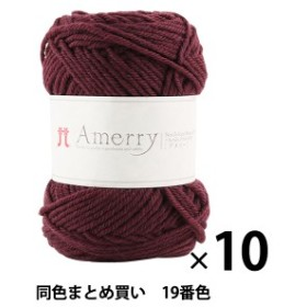 【10玉セット】秋冬毛糸 『Amerry(アメリー) 19番色』 Hamanaka ハマナカ【まとめ買い・大口】