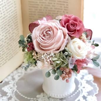 プリザーブドフラワー*シャビーアレンジ パリジェンヌ アンティークアレンジ 母の日 結婚祝い