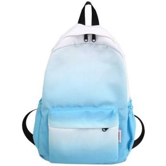 バックパック 女性のランドセルジッパーバックパック カジュアルなショルダーバッグ (Color : Blue)