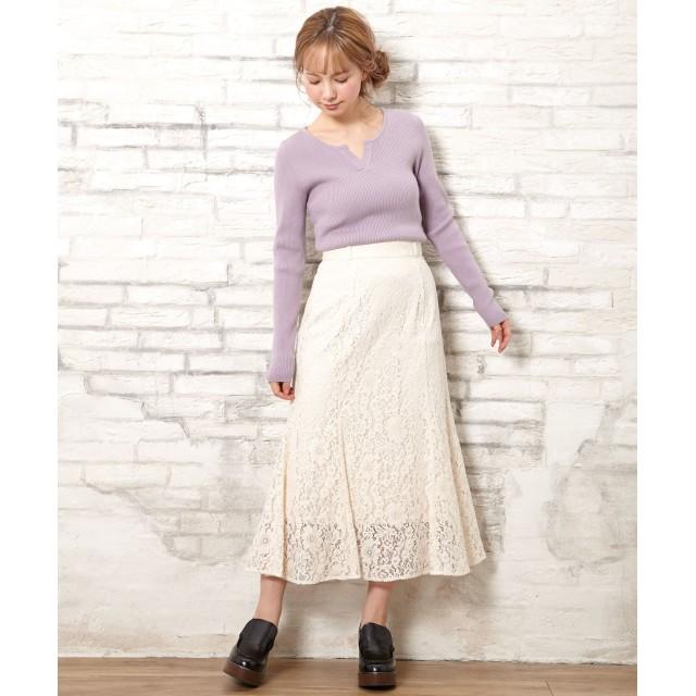 INGNI(イング)/ベルト付ウールライクPEマーメイドスカート