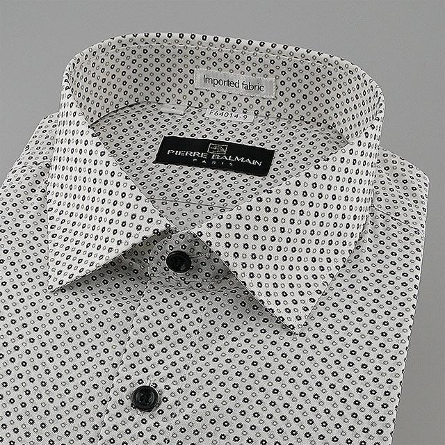 皮爾帕門pb圓點黑白相間、下擺齊支可外穿、悠閒自適短袖襯衫64014-09 -襯衫工房