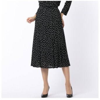 (Liliane Burty/リリアンビューティ)ハートプリント セミフレアースカート【セットアップ対応】/レディース ブラック