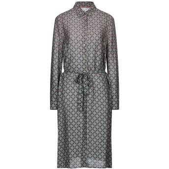 《セール開催中》PEPE JEANS レディース 7分丈ワンピース・ドレス グレー XS レーヨン 100%