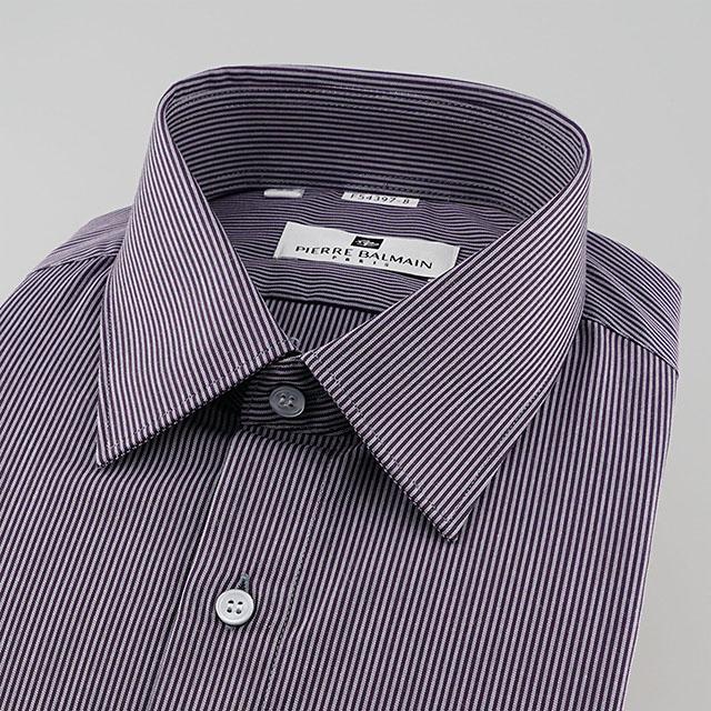 皮爾帕門pb深紫色細條紋都會時尚合身長袖襯衫54397-08 -襯衫工房