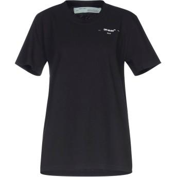《セール開催中》OFF-WHITE レディース T シャツ ブラック L コットン 100%