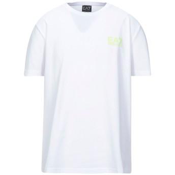 《セール開催中》EA7 メンズ T シャツ ホワイト XXS コットン 100%