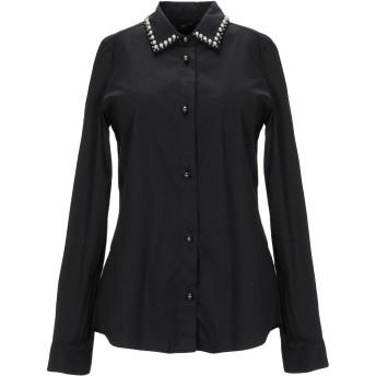 《セール開催中》MY TWIN TWINSET レディース シャツ ブラック S コットン 81% / ナイロン 16% / ポリウレタン 3%