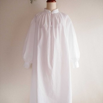 painter smock, white, long